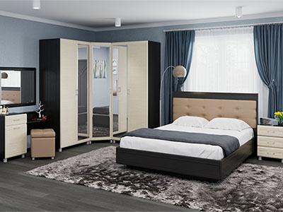 Спальня Мелисса-6 - Дуб Венге, Дуб Беленый