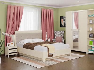 Спальня Мелисса-1 - Дуб Беленый, вст.Венге