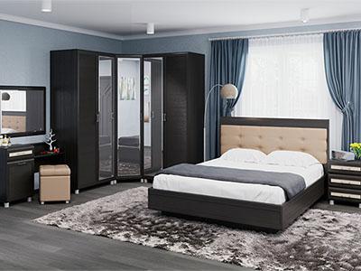 Спальня Мелисса-6 - Дуб Венге, вст.Беленый