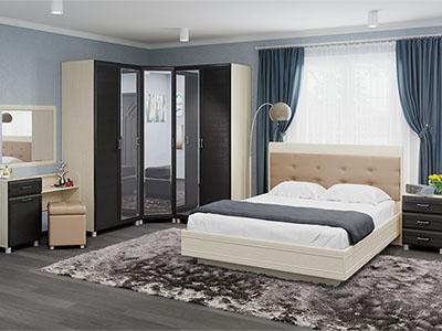 Спальня Мелисса-6 - Дуб Беленый, Дуб Венге