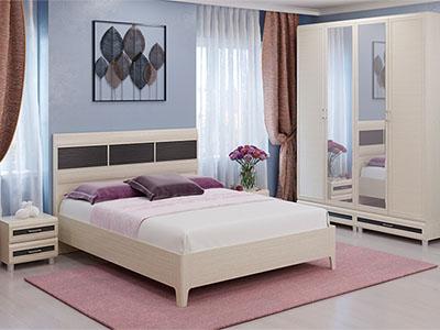 Спальня Мелисса-3 - Дуб Беленый-комб.