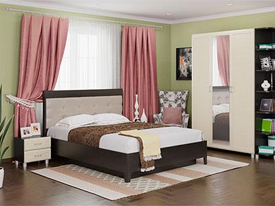 Спальня Мелисса-1 - Дуб Венге, Дуб Беленый