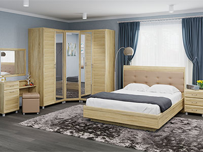Спальня Мелисса-6 - Дуб Сонома