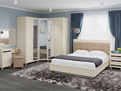Спальня Мелисса-6 - Дуб Беленый, вст.Венге