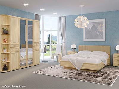 Спальня Карина-3 - Ясень Асахи