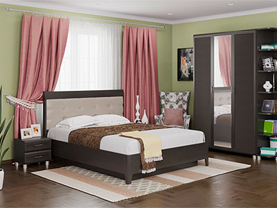 Спальня Мелисса-1 - Дуб Венге