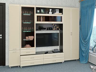 Гостиная Мелисса-10 - Дуб Венге, Дуб Беленый