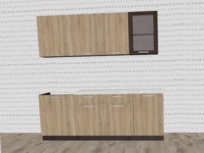 Кухня Брауни - Дуб Сонома/Венге 1,8 м