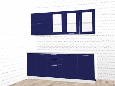 Кухня Валерия - Синий глянец 1,8 м