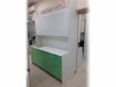 Кухня Вега - Белый/Салатовый металлик 1,8 м