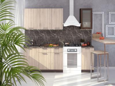Кухня Брауни - Дуб Сонома/Венге 1,7 м