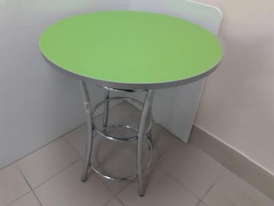 Стол №23 Зелёный/Хром