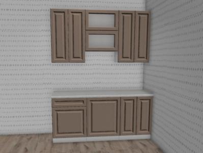 Кухня Ницца Роял - Omnia/Белый (1,8м)