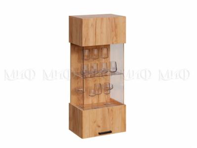 Шкаф стекло навесной Дуб крафт - Алтея